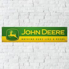 John Deere Banner Garage Workshop PVC Sign Trackside Tractor Farming Display v2