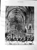 Old Antique Print 1887 Jubilee Banquet Law Society Royal Courts Justice 19th