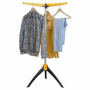 30 HANGERS MULTI HANGER PORTABLE FOLDING STANDING TIER CLOTHES SHIRT DRYER AIRER
