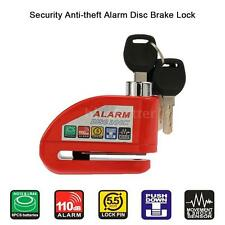 Motorcycle Scooter Bicycle Anti-theft Disc Brake Lock Security Alarm Red C6Q6
