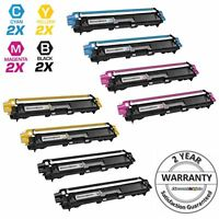 8PK TN221 TN225 High Yield Toners for Brother MFC-9130CW MFC-9330CDW MFC-9340CDW