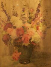 Louis Montagné (MONTAGNE). Bouquet de fleurs. Aquarelle v712