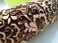Paisley Engraved Rolling Pin Carved Molds Embossed Dough Roller by Oma Marta
