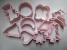10 er SET Ausstecher Ausstechformen Kunstoff Rosa Für  z.B Weihnachtsbäckerei