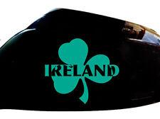 Irlande Irlandais Shamrock Autocollant Voiture Aile Miroir Style Autocollants (lot de 2), turquoise