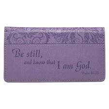 Be Still and Know That I Am God Checkbook Cover (Purple -FREE SHIPPING