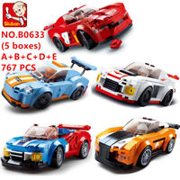 5 Set Sluban DIY Kids Building Blocks Toys Puzzle Sports Car 767 PCS  B0633