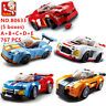 5 Set Sluban DIY Kids Building Blocks Toys Puzzle Sports Car 767 PCS  B0633