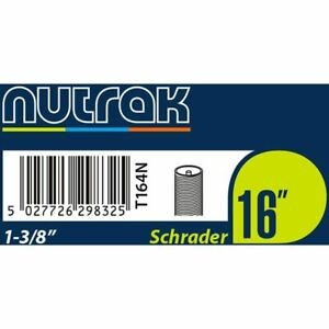Nutrak 16 x 1 3/8th inch Schrader inner tube