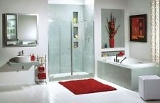"MAAX 39"" KLEARA 1/4"" TWO-PANEL FRAMELESS GLASS PIVOT DOOR FOR ALCOVE SHOWER"