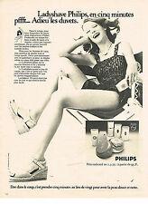 PUBLICITE ADVERTISING 044   1975   PHILIPS   ladyshave