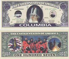 Two Shuttle Columbia Space Novelty Money Bills # 079