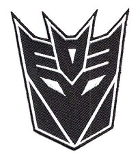 "Transformers Movie Decepticon Black Logo 3.5"" Uniform Patch-FREE S&H(TRPA-05)"