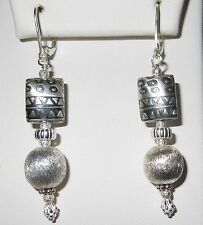 STERLING SILVER .925 TRIBAL DESIGN EARRINGS ONE OF A KIND! LEVER BACK NEW STYLE