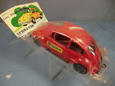 "VINTAGE PLASTIC MODEL No.XXX V/W BEETLE ""THE BOMB"" SALOON CAR (RED VERSION) MIB"