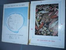 MENU RESTAURANT AUX MERVEILLES DES MERS PARIS 1960