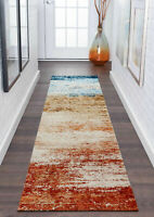 Runner Rug Hallway Floor Rug Abstract Rainbow Print Morden Carpet 80x300cm
