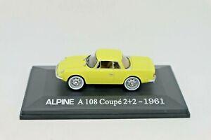1:43 ELIGOR UH HACHETTE ALPINE A 108 Coupé 2+2 1961