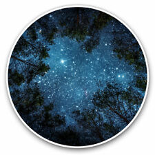 More details for 2 x vinyl stickers 30cm - beautiful night sky view trees camp cool gift #8595