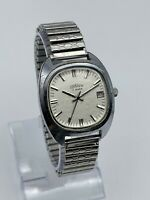 Vintage Men's CORNAVIN 17 Jewels Mechanical Silver Tone Watch, Date, Poljot