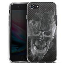 Apple iPhone 8 Silikon Hülle Case - Smoke Skull Carbon