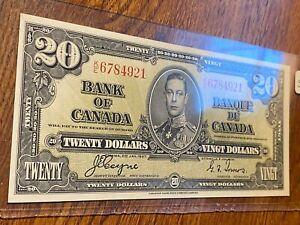 1937 BANK OF CANADA 20 DOLLARS..NICE AU...