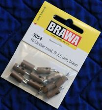 BRAWA 3054 Old Style Brown Plugs for Marklin 2,5 mm 10 pk New Fast US Shipping