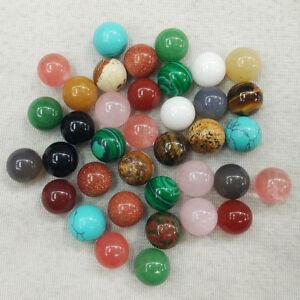 Assorted natural stone round ball shape no hole 12mm beads wholesale 50pcs/lot