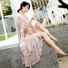 Korean plus size/big/small girl/tall girl chiffon floral dress M/L/XL/XXL/XXXL