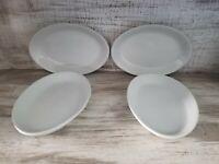 Set 4 Vintage Shenango China Oval Side Dish Restaurant Ware Fruit Dessert USA