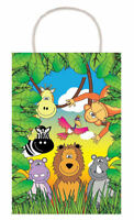 6 Jungle Bags With Handles - Luxury Party Treat Sweet Loot Lunch Gift