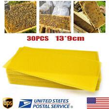 30pcs Honeycomb Foundation Bee Sheet Hive Wax Frames Waxing Beekeeping Equipment