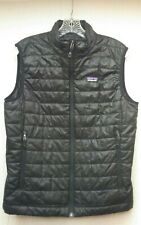 Patagonia Men's Black Quilted Primaloft Zip-Up Vest Size S Small