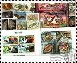 Bats : 25 Different Stamps Collection
