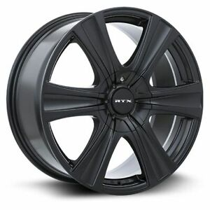 One (1) 17x8 RTX Aspen ET 35 Black 5x114.3 5x127 Wheel Rim