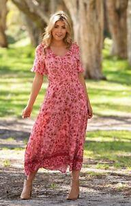Evangeline Floral Print Dress