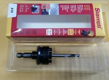 "Starrett 56615 Hole Saw A-10 A17-38 Arbor With HSS 1/4"" Pilot Drill (931-2)"