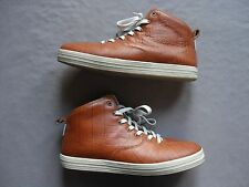 GOURMET MENS QUATTRO SKATE LX TAN CROCODILE EMBOSSED LEATHER SHOES SIZE 11