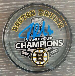 Tuukka Rask Boston Bruins Signed 2011 Stanley Cup Champions Acrylic Puck
