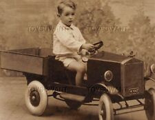 VINTAGE RPPC PHOTO POSTCARD PLEASURE BEACH BLACKPOOL UK PEDAL CAR DUMP TRUCK TOY