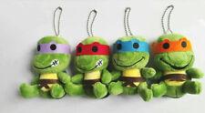 "4PCS Teenage Mutant Ninja Turtles Soft Stuffed Plush Toy Doll 4"" New Quality Hot"