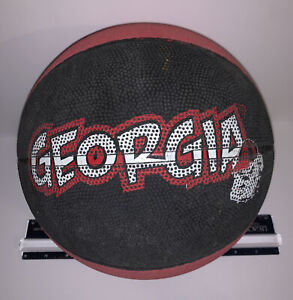 Georgia Bulldogs UGA Basketball Ball Rubber Red Black Official Size Vintage