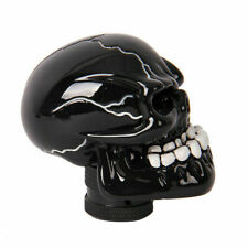 Black Manual Transmission Gear Shift Knob Shifter Lever Resin Skull with adapter