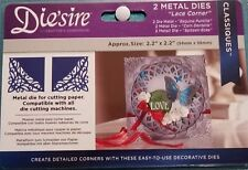 Die'sire Crafter's Companion Lace Corner Die Set Classiques Card Making 2pc