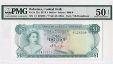 1974 Bahamas $1 PMG50 EPQ *C/1 <P-35a> AUNC