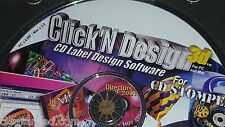 CD Stomper Click'n Design 3d SOFTWARE PC Mac Templates + Clipart CD/ DVD AVERY