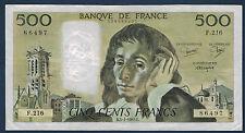 FRANCE - 500 FRANCS PASCAL - Fayette n° 71.32 du 3-1-1985.B en TTB  F.216 86497