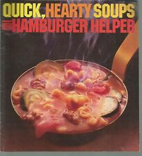 Quick Hearty Soups with Hamburger Helper General Mills Booklet 1981