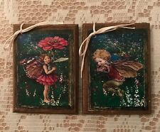 5 Handcrafted Wooden Fairy Ornaments / Magical Fairy Hang Tags Set15