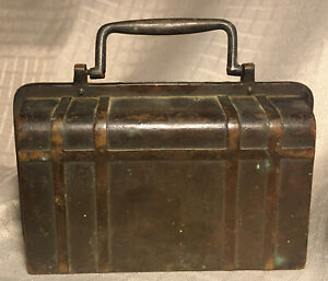 Genuine Antique Suitcase Shaped Coin Bank****RARE****